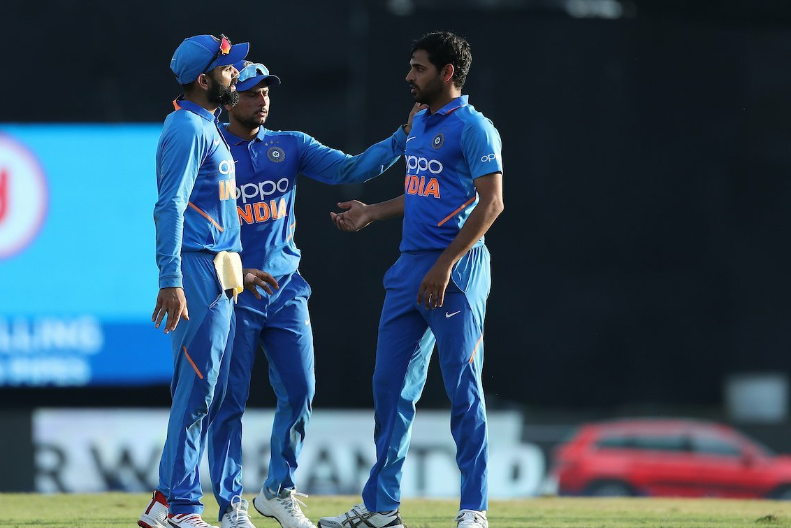 Kohli, Iyer and Bhuvi set-up a 59-run win for India