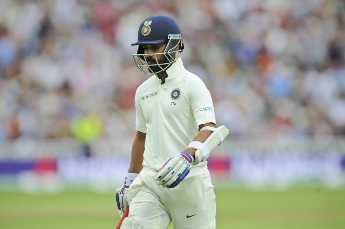 WI v IND- Rahane's 81 guides India after top-order collapse