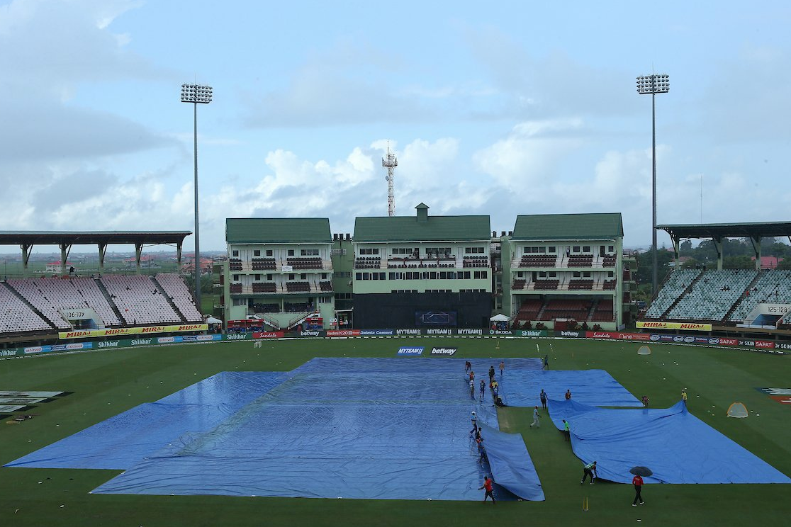 Persistent rain forces game into abandonment at Guyana