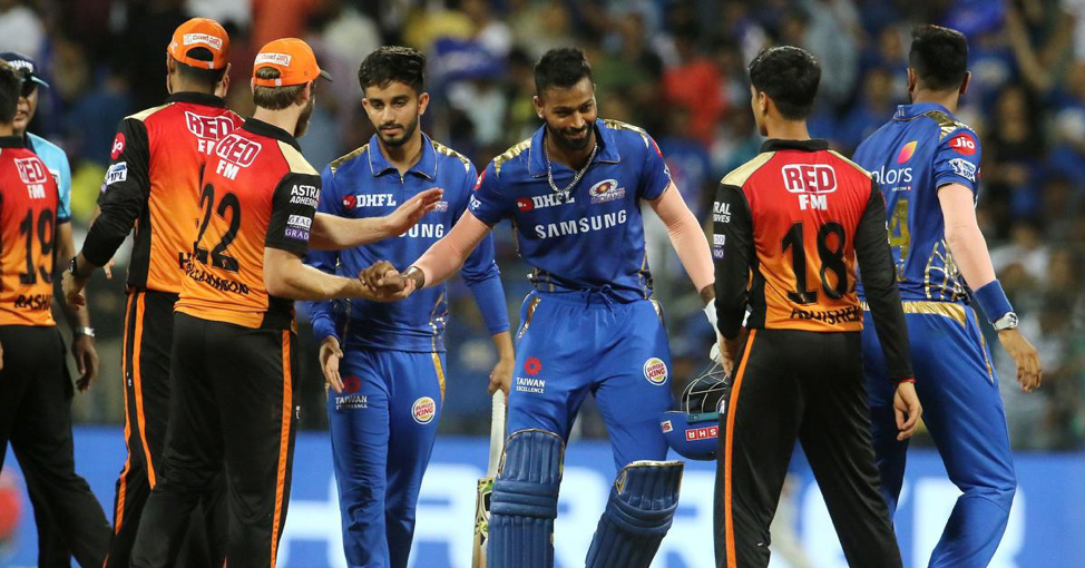 Mumbai Indians and the Sunrisers Hyderabad