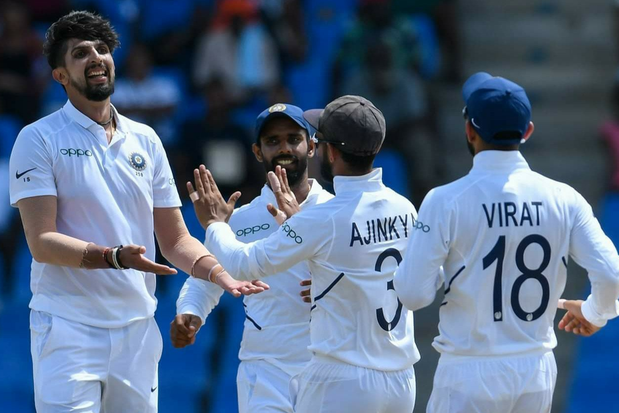 WI v IND- Ishant 5-fer puts India in pole position