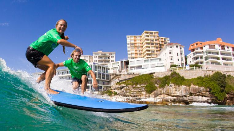 surfing in bondi