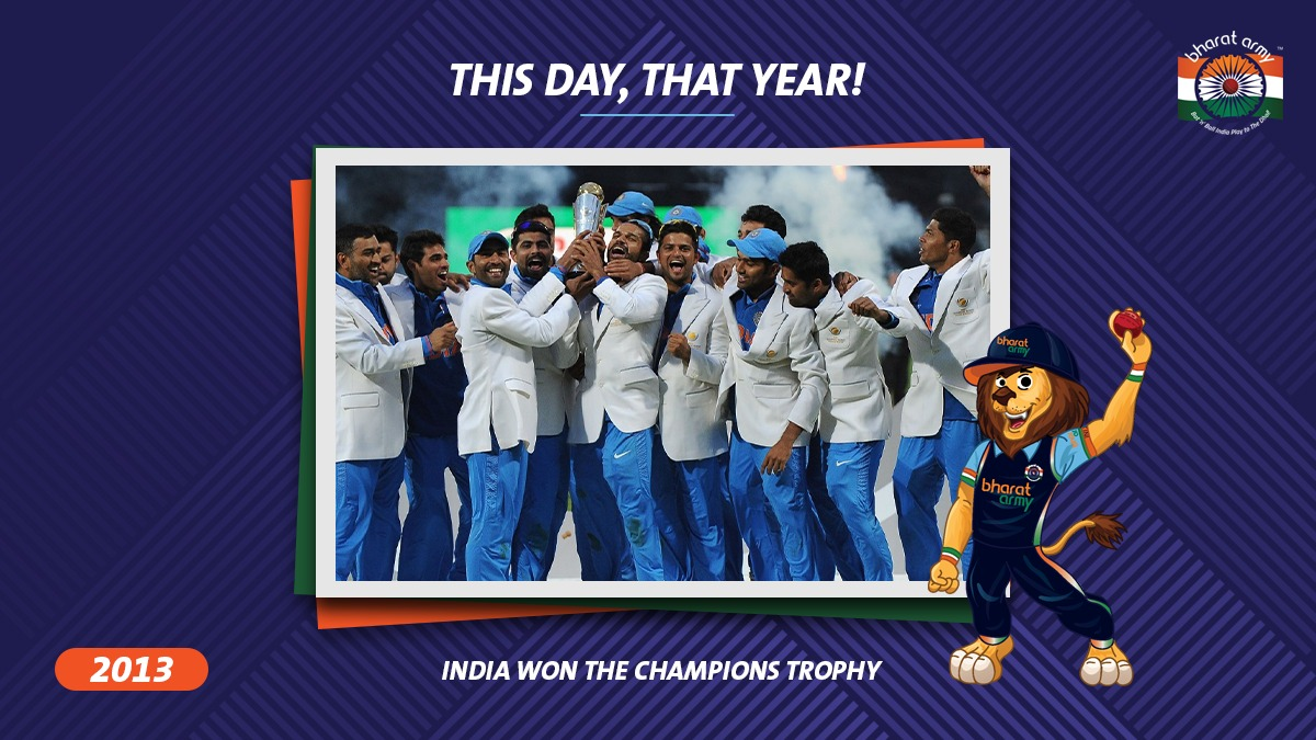 India Winning Champions Trophy