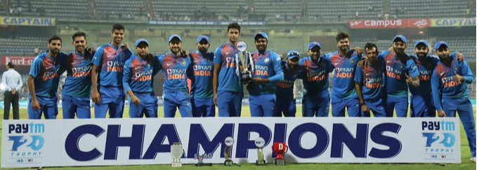 IND v WI: Team India seal thrilling T20I series win