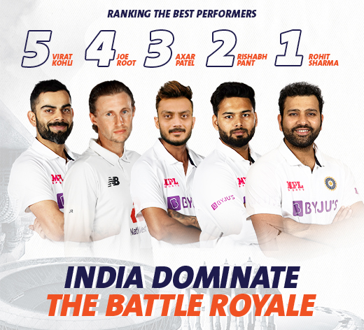 India Dominate the Battle Royale: Ranking Top 5 Performances