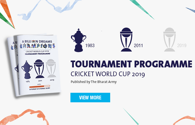 Cricket World Cup 2019 Tournament Programme and Tour Guide