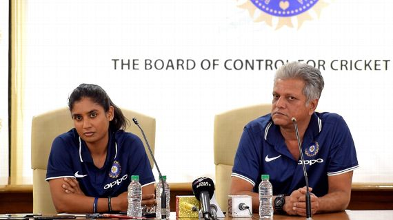 Mithali Raj and BCCI press conference